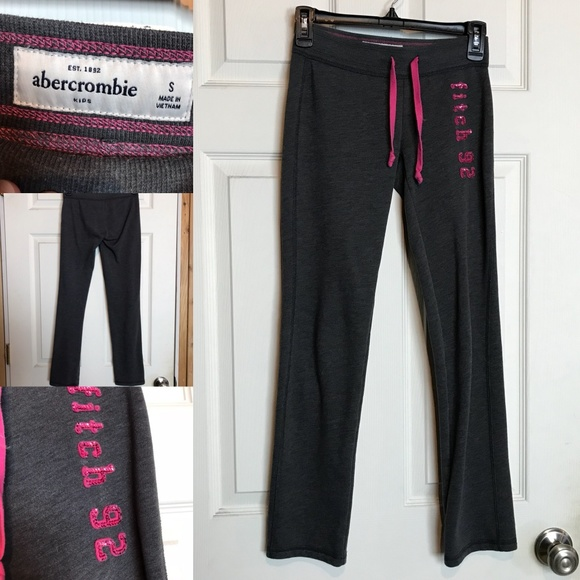 20801be2a5 Abercrombie & Fitch Bottoms | Abercrombie Fitch Dark Grey Yoga Pants ...
